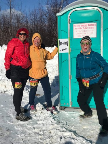 Our running family sponsored a portapotty