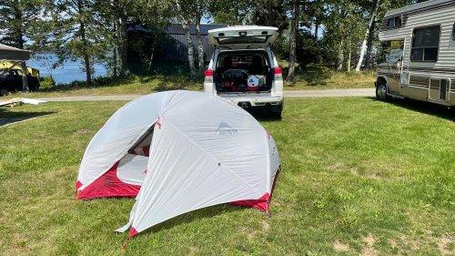 We camped in Eastport so we could sleep immediately.