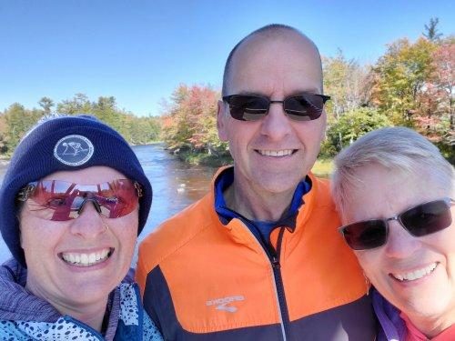 Me, John Q and Bea Q on the old rail bridge