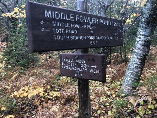 Trail signs, with delightful editorial