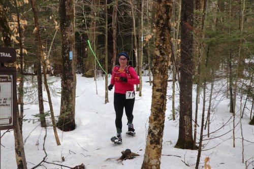 2018 Frigus 15k. Running with temps in the 30's and carrying safety layers in my hydration vest. This trail race gets remote enough to necessitate some safety planning.