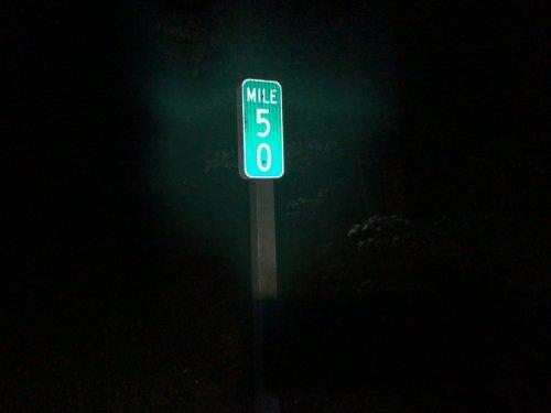 DEST mile 50 marker.
