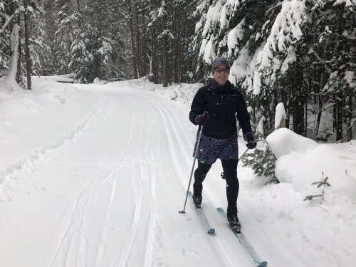 It was such a cold week I lost my motivation to run but the Nordic skiing was superb!