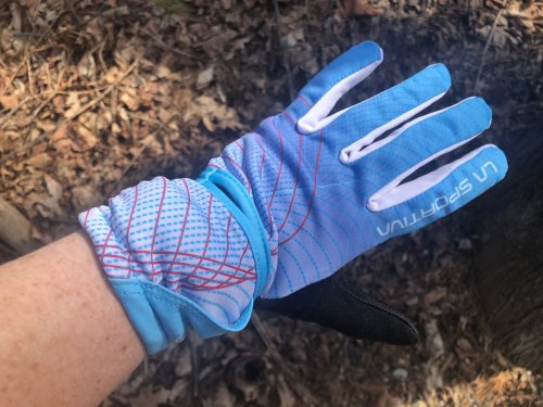 La Sportiva Trail Running Gloves. Made for women, but not girly.