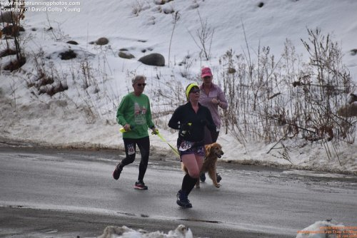 January Thaw 4.5 Miler. I couldn't safely have run it a week before, but a one-week weather postponement allowed me to race with friends and still follow the Ten Percent Rule. PC: Davi Colby Young of Maine Running Photos.
