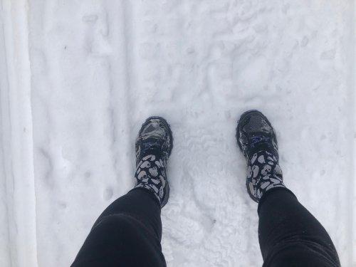Gaiters keep your socks dry, keeping your feet warm.